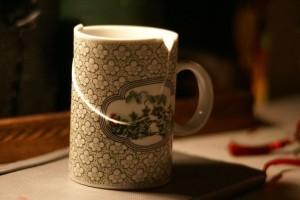 Taza de té rota