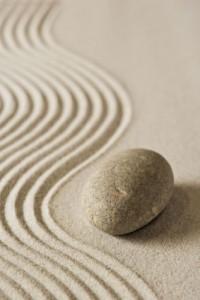 Piedra y jardín Zen