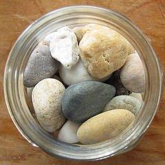 Frasco piedras
