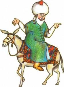 Nasrudin en su burro