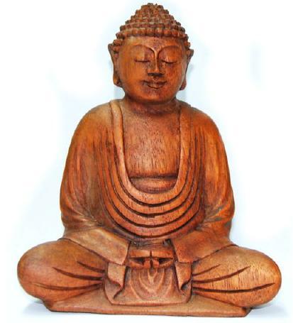 Estatua Buda de madera