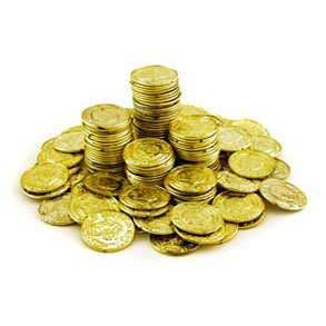 Tinajas monedas de oro